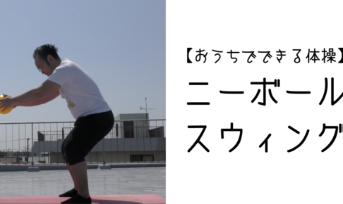 【おうちでできる体操】ニーボールスウィング