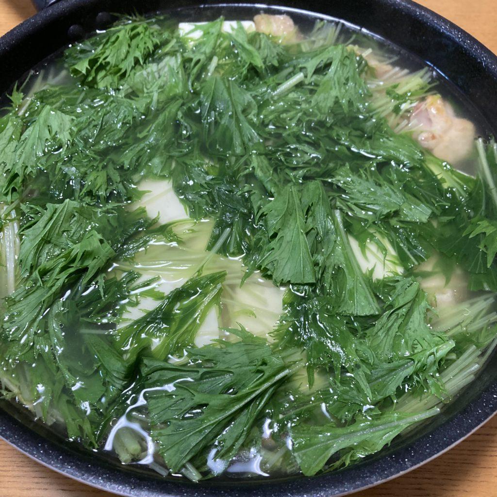 【簡単薬膳レシピ】鶏と豆腐と水菜の塩だれ煮